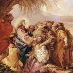 """Tiepolo: """"Gesù guarisce il cieco di Gerico""""."""
